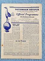 1951 - TOTTENHAM v ASTON VILLA PROGRAMME - FIRST DIVISION - 51/52
