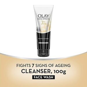 Olay Face Wash Total Effects 7 in 1 Exfoliating Cleanser, 100g + Free Shipping