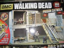 THE WALKING DEAD  BUILDING SET McFarlane TOY LOT OF 10 NEW Prison Catwalk MORE