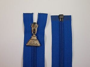 open ended large blue zips  metal tab ideal bags, coats, jacket making