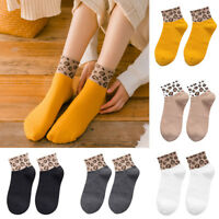 New Spring Women Ladies Leopard Print Socks Fashion Women Anklets Sox Bobbysocks