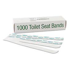 "Bagcraft Sani/Shield Printed Toilet Seat Band Paper Blue/White 16"" Wide x 1-1/2"""