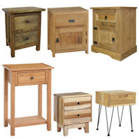 Wooden Nightstand Bedside Cabinet Console Table Telephone Desk Drawer Handmade