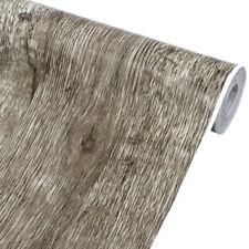 Wood Textured Wallpaper Rolls Vinyl Self Adhesive Cabinet Wall Paper Sticker 10M