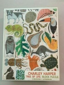 Charley Harper Tree of Life Block Puzzle 12 Blocks/6 Puzzles, New, Sealed