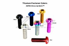 M6-1.0x35mm Titanium Metric Dress-Up Fasteners/Bolt, Angled Head, Sold Per Each