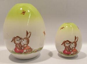 CY 2x Göbel Vase Blumenvase Ostern Osterhase Eivase Frühling Grün