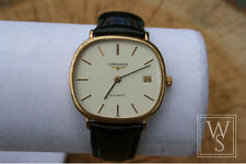 Longines Men's Gold Plated Strap Wristwatches