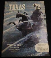 1972 Football Program University of Texas Southern Methodist University