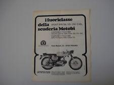 advertising Pubblicità 1969 MOTO MOTOBI 250 SPORT SPECIAL