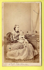 CDV - Mrs Sandeman & Child, Crinoline Dress - R. Dighton - Cheltenham