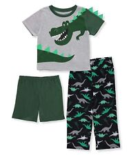 Carter's Baby Boys' 3 Piece Dinosaur Jersey Pjs 5T