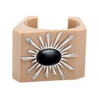 Black Agate Solstice Bangle Bracelet in Sterling Silver