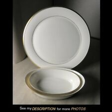 Lenox Eternal Dinnerware China Serving 3 Pieces Chop Plate 2 Oval Vegetable
