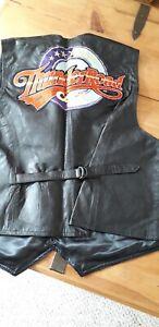 Mens Leather Motorbike Jacket Size XL