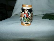 Vintage Mini Ceramic Beer Stein Shot Glass  German