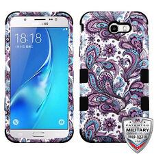 Purple European Flowers Phone Case Cover Samsung Galaxy J7 Sky Pro