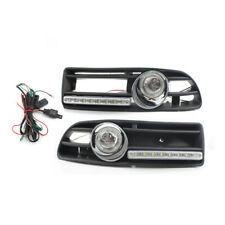 Car GRILLE Clear FOG LIGHT Fit FOR VW JETTA BORA MK4 99-04 LED DRL Quality