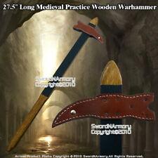 "27.5"" Viking Medieval Practice Wooden War hammer Waster Training Weapon LARP"