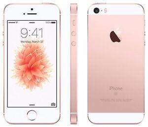 Original Apple iPhone SE 64GB Rose Gold iOS 9 12MP Unlocked Smart Phone UK SHIP