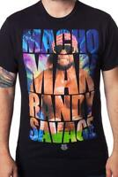 WWE Men's Macho Man Randy Savage Posing Licensed T-Shirt Black New