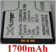 Batterie 1700mAh Pour SONY ERICSSON TYPE BST-41