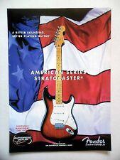 Publicite-Advertising: guitar fender stratocaster 03/2001 american series