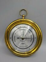 Small Gold/Brass Swift & Anderson Round Wall Barometer USA