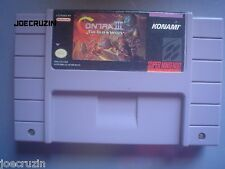 SUPER NINTENDO SNES CONTRA 3 III THE ALIEN WARS SHOOTER KONAMI TESTED MEXICO VER