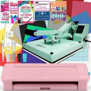 "Silhouette Blush Pink Cameo 4 Heat Press T-Shirt Bundle w/ 15"" x 15"" Heat Press"