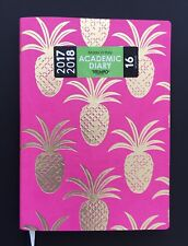 Chic, Glamorous InTempo Pink Gold Pineapple Mid 2017- End 2018 Moleskin Diary