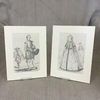 1842 Impronte King James I Costume Storico Periodo Moda Originale Antico