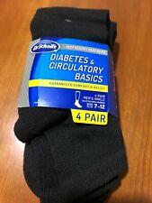 Dr. Scholls Mens Diabetes Circulatory 4 Pair Black Ankle Socks Size 7 12