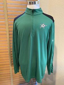 MAJESTIC Dallas Stars 1/4 ZIP Pullover Size XL.                           P11991