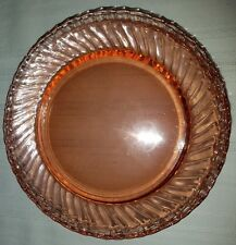 Acoroc France Glass Pink Swirl Rosaline Luncheon Plates Set of Four