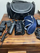 Sony Handycam Camcorder Carl Zeiss With Case And Tons Of Accessories