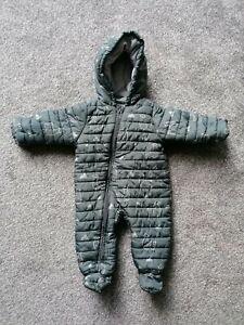 John Lewis Baby Llama Shower Proof Packable Snowsuit, 6-9m, Grey