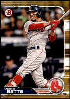 Mookie Betts 2019 Bowman 5x7 Gold #50 /10 Red Sox