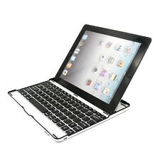 Ultra Slim Bluetooth Wireless Aluminum Keyboard Case Cover for iPad 2, 3 and 4
