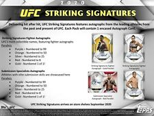 2020 Topps UFC Striking Signatures Hobby Box (Presell)!!