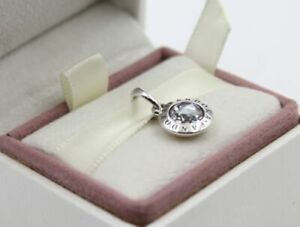Genuine Sterling Silver PANDORA Pendant Charm ICONIC RADIANT LOGO S925 ALE