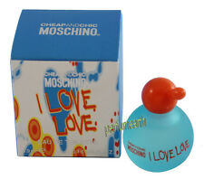 I Love Love  By Moschino 0.16 oz /4.5 ml EDT Splash Mini For Women  New In Box
