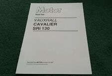 April 1987 VAUXHALL CAVALIER SRi 130 MOTOR ROAD TEST REPRINT UK BROCHURE