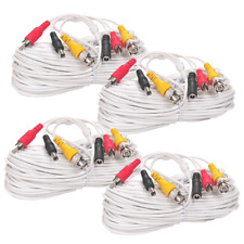 4x 50ft Security Camera Video Audio Power Cable Bnc Rca Cctv Dvr Surveillance