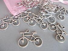 20 X Bicicleta, Moto, ciclo Antiguo Plata Tibetano Metal charms/pendants