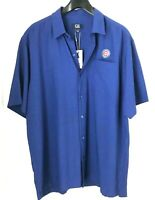 Chicago Cubs Mens XL Shirt Cutter & Buck Button Up Short Sleeve New with Tags