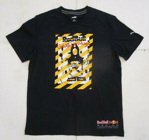 Puma Red Bull Racing Men's T-Shirt, New Sport Life Style Activeware Shirt Sz L