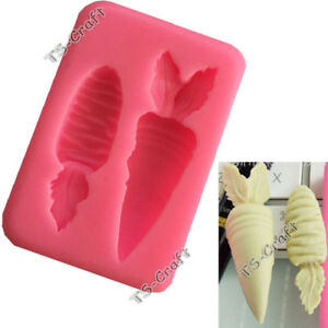 3D Carrot Silicone Fondant Cake Decorating Mould Chocolate Sugarcraft Mold Tool