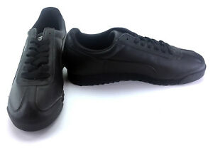 Puma Shoes Roma Athletic Leather Black Sneakers Mismatch 10/9
