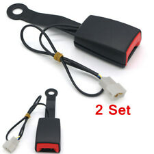 2 pcs Accessories Black Safety Seat Belt Buckle Connector Kit For Car SUV Truck